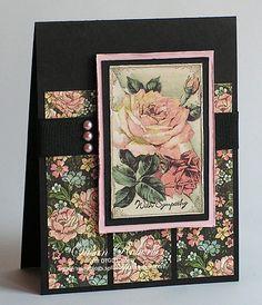 ladi diari, rose, stun card, g45 card, pretti card, paper crafts