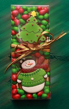 Cute Christmas cookie package with jelly bean