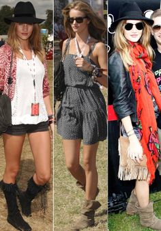 Rosie Huntington Whiteley's Best Festival Looks  www.glossybox.co.uk/