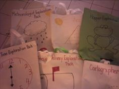 Literacy exploration bags