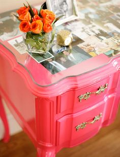makes me want to paint all of our dressers pink