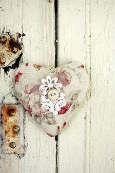 Vintage inspired lavender heart sachet