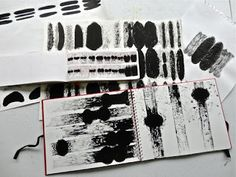 Drawing in black ink... Dna sequencing and characteristics.  click image to read post.