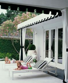 interior design, house design, office designs, awn, pool furniture, outdoor space, black white, patio, white interiors