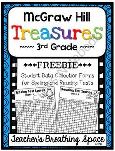 Treasures 3rd Grade -- Student Data Forms for Spelling / Reading Tests *FREEBIE* from Teacher's Breathing Space on TeachersNotebook.com -  (6 pages)  - Treasures 3rd Grade -- Student Data Forms for Spelling / Reading Tests *FREEBIE*