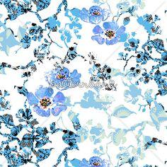 Blue Watercolour Mix by Pour La Vie