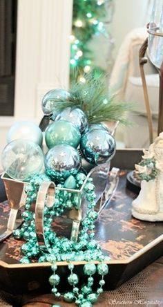 Aqua Turquoise Tiffany Blue Christmas