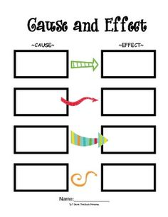 Freebie Cause and Effect Template that can be used with any book. ...