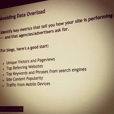 Avoid Analytics Overload ~ Presentation from Blog Tutor