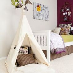 Tee pee or tent in a toddler's bedroom = awesome fun.