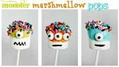 Monster Marshmallow Pops - dunno whether to file these as arts & crafts, or food!