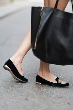 Miu Miu loafers. Bag.