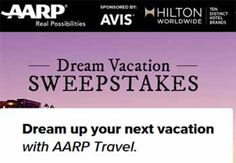 AARP Dream Vacation Sweepstakes 2014