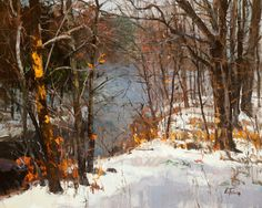 morn fog, januari, landscape paintings, art, fior landscap, landscap paint, peter fior, mornings, oil