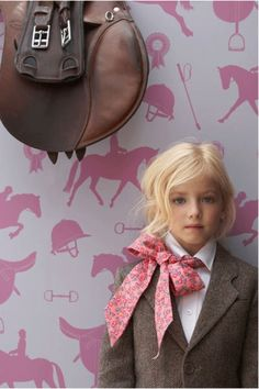 Equestrian Wallpaper hors, little girls, poni, outfit, saddl, daughter, big bows, kid, girl rooms