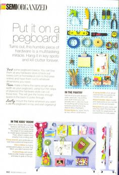 pegboards- not just for the garage