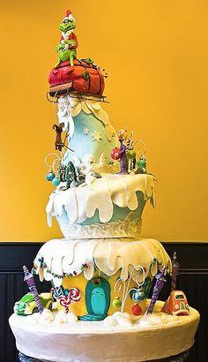 Grinch / Whoville Cake....amazing! : )