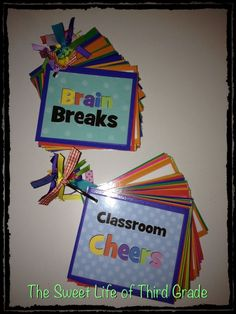 Brain Break and Classroom Cheer Cards