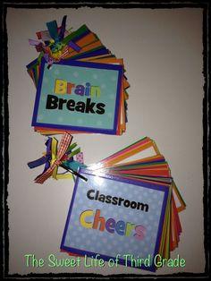 Brain Break and Classroom Cheer Cards