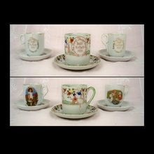 1913, 1914, 1916 Emery Bird Thayer Dolls' Tea Party Cups and Saucers bird thayer, emeri bird