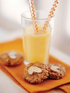 """Almond Breakfast Cookies. These grab-and-go """"cookies"""" are a healthful option we're lusting after.  #SelfMagazine"""