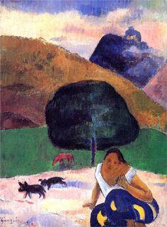 Road in Tahiti - Paul Gauguin - WikiArt.org