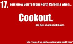 this makes me glad to live in NC :D  You know you're from North Carolina when...