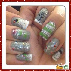 2013 Christmas nails