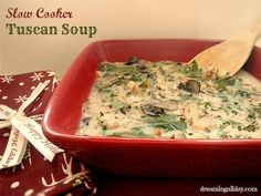 Slow Cooker Tuscan Soup | Dreaming All Day