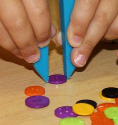 Witchy Fingers -- A Halloween Fine Motor Activity