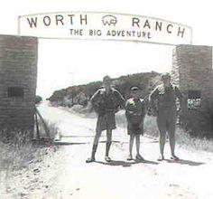 Original Worth Ranch gate in a undated photo.