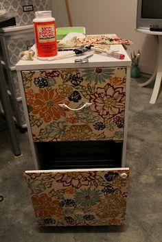 Craft Room Secrets: Filing cabinet makeover