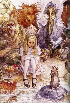 curious, alic wonderland, illustrations, art charact, alice in wonderland
