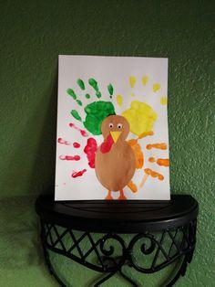 Turkey Day handprint craft