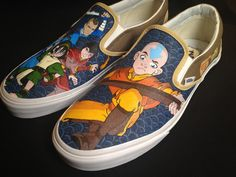 Custom Hand Painted Shoes  Avatar the Last Airbender by RyTee. , via Etsy.