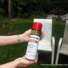 How to {Spray Paint} your {Outdoor Chairs} properly!