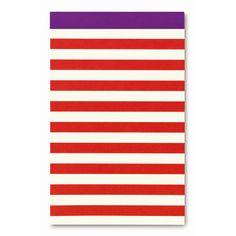 Striped Notepad Classics by @kate spade new york  #IndigoPaper #IndigoKateSpadeNY #KateSpadeNY