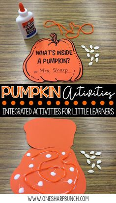 FREE life cycle of a pumpkin activities, including pocket chart sentences and sequencing printable. Perfect for your pumpkin investigations! Plus, we love the adorable pumpkin crafts!