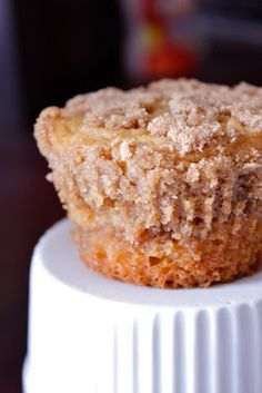 Coffee cake muffins! Ooo my...another yummy winter treat...looks like I will be fat & happy this winter.
