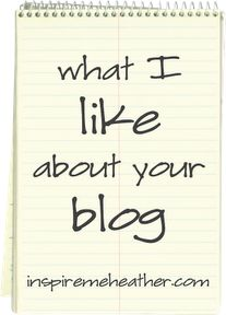 Ever wondered what folks REALLY think about the look of your blog?  Get honest critiques from other bloggers at this blog hop at @heather inspired
