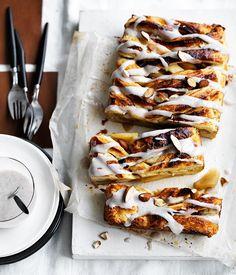 caramelised apple Danish with cardamom icing | Gourmet Traveller