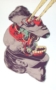 skulls, street artists, illustrations, mexico, art prints