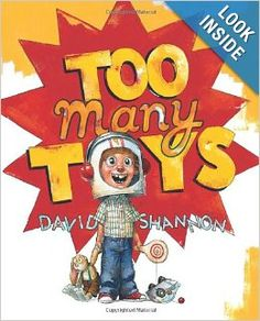 This book is a great ice-breaker to help your children understand why you want to donate some of their toys. #organization #ad *We love David Shannon toy 1699, librari idea, donat toy, ya book, too many toys, kid