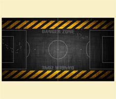 """Kickertisch Zubehör / Kicker Zubehör / Tischfußball Zubehör - Spielfeldfolie Motiv """"Dangerzone"""""""