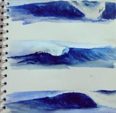 paint wave, painting wave, artwork