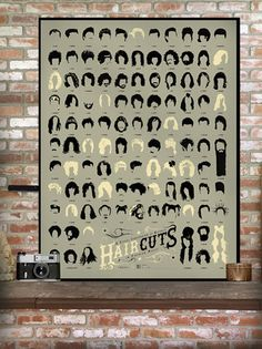 Pop Chart Lab — A Visual Compendium of Notable Haircuts in Popular Music -- hilarious, would love this in my bathroom