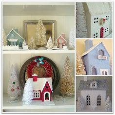Glitter house #tutorial #crafts #Christmas
