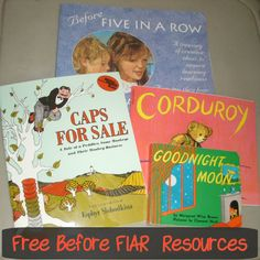 Free Before Five in a Row Resources- long list of #B4FIAR. Great for moms of young ones wanting to explore a book based #curriculum.