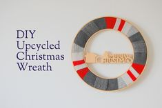 DIY Upcycled Christmas Wreath - northstory