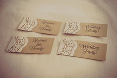 Custom Rustic Wedding Place Cards  Lace Doily. Possible name cards?